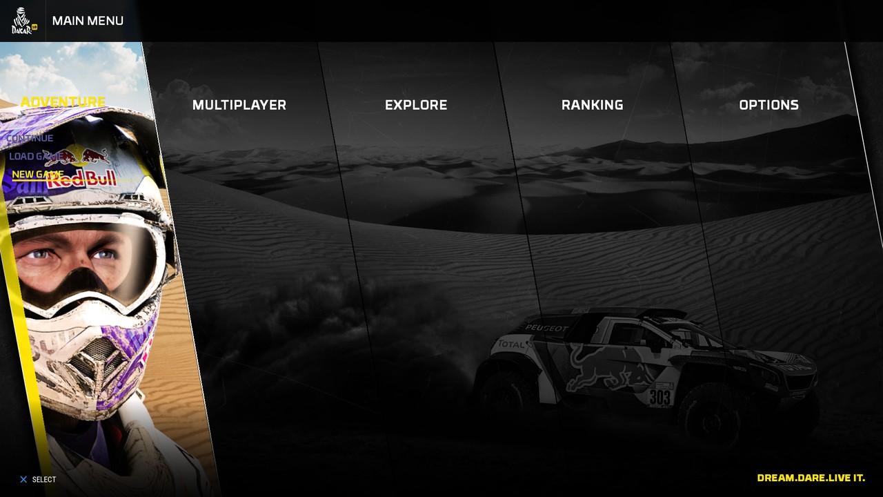 Hlavní nabídka Dakar 18