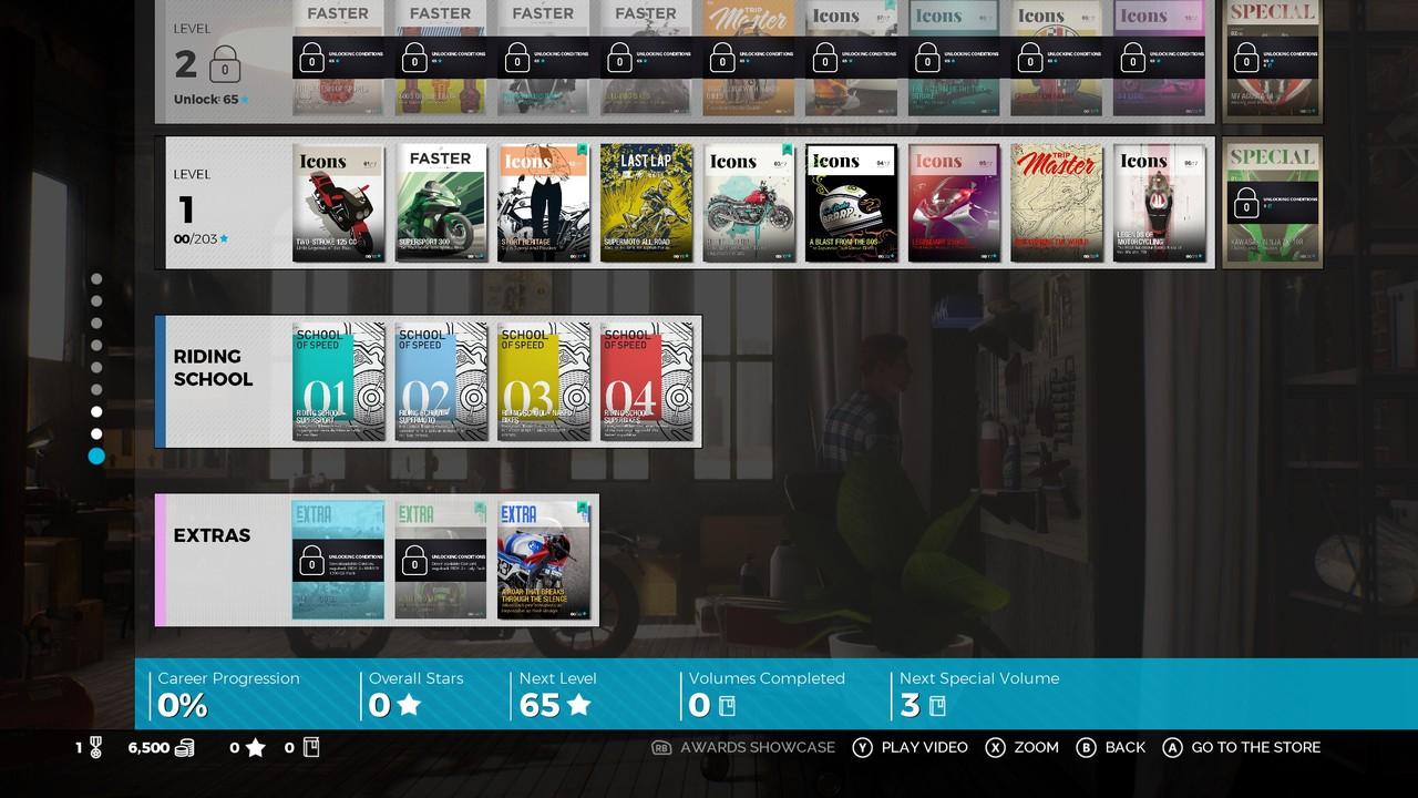 Kariéra v Ride 3 má svěží podobu různých magazínů věnovaných určitým motocyklům