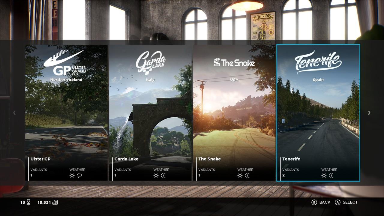 27 lokací Ride 3 může mít denní, noční či deštivou verzi.
