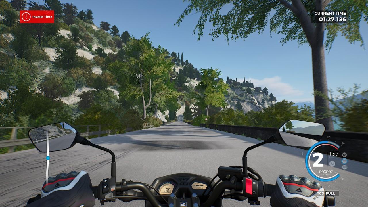 Pohled skoro jako v reálu. Jedu na své mašině Honda CB650F.
