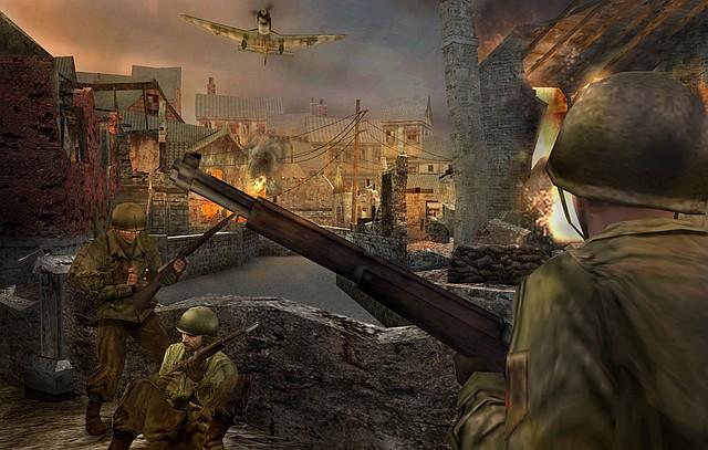 Call of Duty: Big Red One - dobývání městečka ve Francii