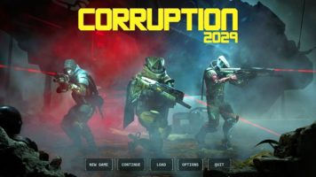 Corruption 2029 menu