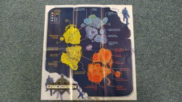 Parádní tištěná mapa Crackdown 2