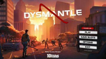 dysmantle menu