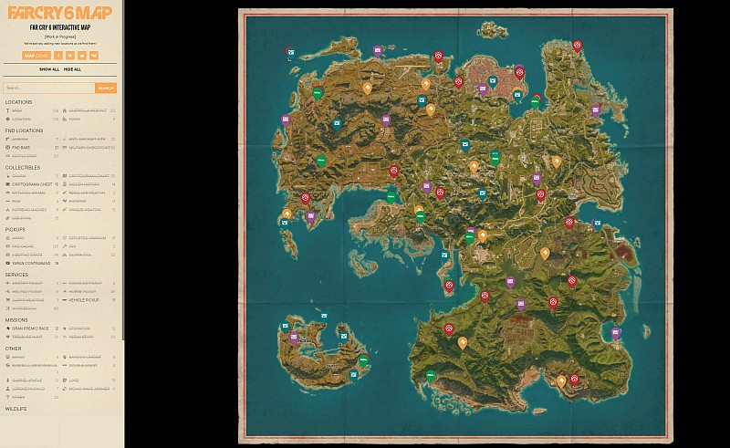 far cry 6 interactive map