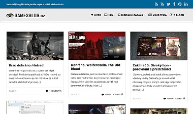 Stranka GamesBlog.cz 3.0