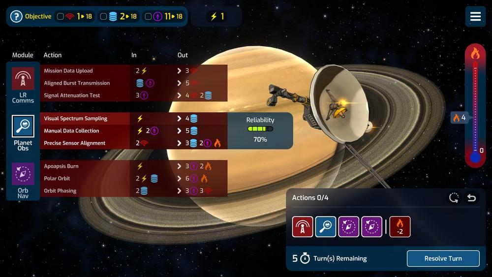 mars horizon screen