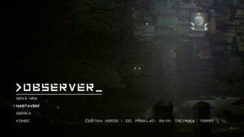 observer menu